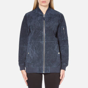 OBEY Clothing Women's Nomads Suede Jacket - Navy