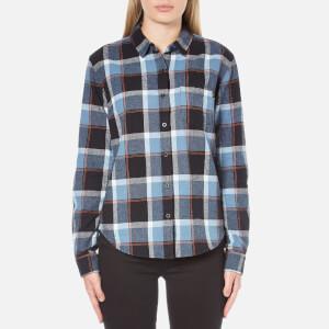 OBEY Clothing Women's Ruby Lake Button-Down Shirt - Blue Multi