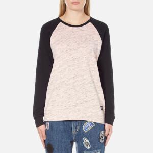 OBEY Clothing Women's Jackson Raglan Long Sleeve Top - Peach/Heather Black