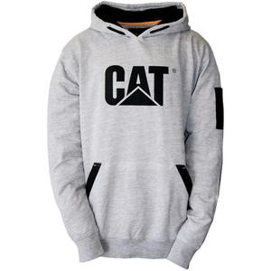 Caterpillar Men's Lightweight Tech Hooded Sweatshirt - Grey
