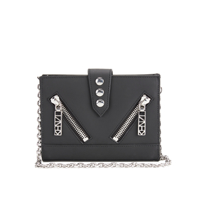 KENZO Women's Kalifornia Wallet on a Chain Crossbody Bag - Black