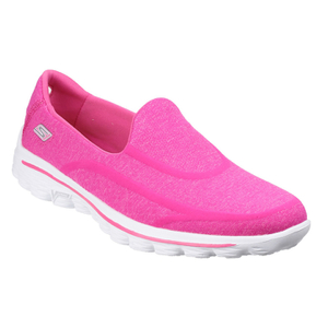 Skechers Women's GOwalk 2 Super Sock Pumps - Pink