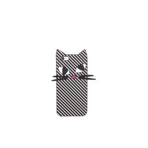 Lulu Guinness Women's Kooky Cat Stripe iPhone 6 Case - Black/White