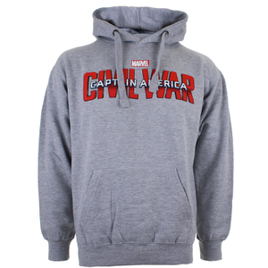 Marvel Mens Captain America Civil War Logo Hoody - Grijs