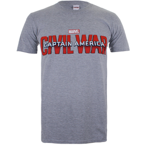 Marvel Men's Captain America Civil War Logo T-Shirt - Sport Grey