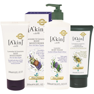 A'kin Hair and Body Lavender Trio (Worth £40)
