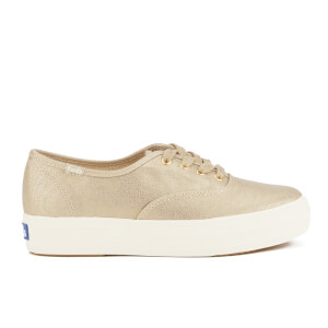 Keds Women's Triple Metallic Canvas Trainers - Gold