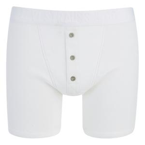 Levi's Men's Long Button Boxers - White