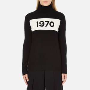 Bella Freud Women's 1970 Polo Merino Wool Jumper - Black