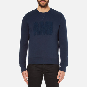AMI Men's Crew Neck Sweatshirt - Night Blue