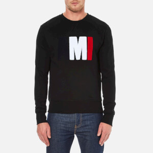 AMI Men's Big AMI Logo Crewneck Sweatshirt - Black