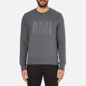 AMI Men's Crew Neck Sweatshirt - Heather Grey