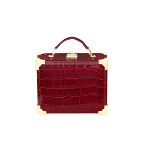 Aspinal of London Women's Mini Croc Trunk - Bordeaux