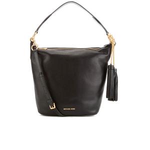MICHAEL MICHAEL KORS Elana Large Tassel Shoulder Bag - Black