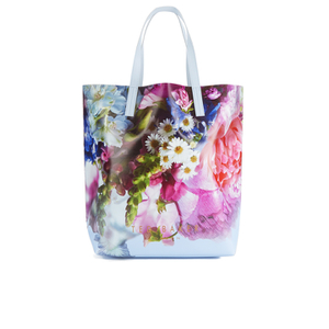 Ted Baker Women's Nellee Floral Focus Large Canvas Tote Bag - Powder Blue