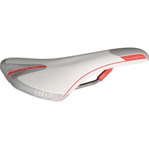 Pro Turnix Saddle Hollow Ti Rails - 132 mm Wide - Regular Fit - White/Grey/Red
