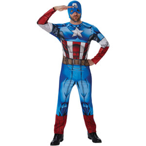 Marvel Avengers Men's Captain America Fancy Dress