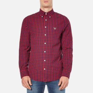 GANT Men's Gingham Seersucker Shirt - Thunder Red