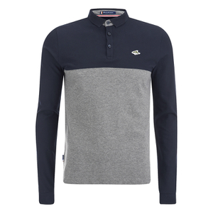 Le Shark Men's Benhill Long Sleeve Polo Shirt - Mid Grey Marl