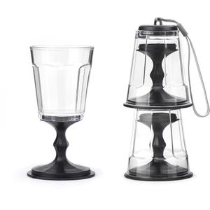 Stackable Wine Glasses - Black