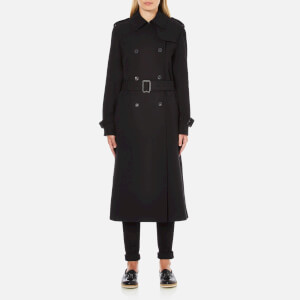 McQ Alexander McQueen Women's Slim Trench Coat - Black