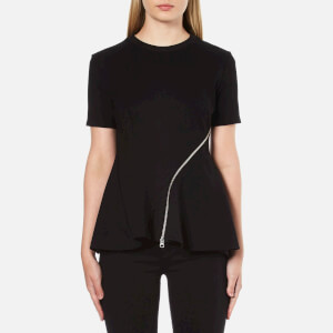 McQ Alexander McQueen Women's Ergonomic Zip Top - Black