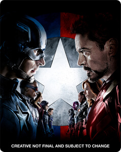 The First Avenger: Civil War 3D - Zavvi exklusives (UK Edition) Limited Edition Steelbook