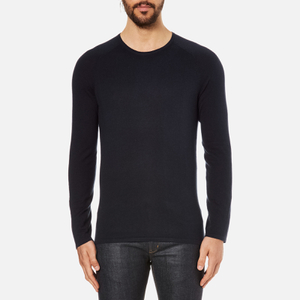 HUGO Men's San Francisco Cotton Silk Cashmere Jumper - Navy