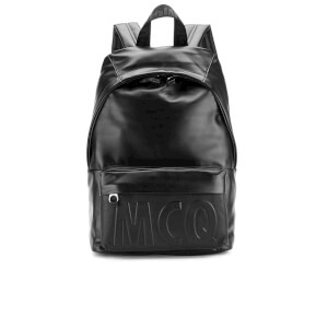 McQ Alexander McQueen Men's Classic Leather Backpack - Black