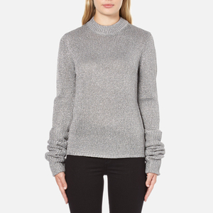 Cheap Monday Women's Honour Knitted Jumper - Silver