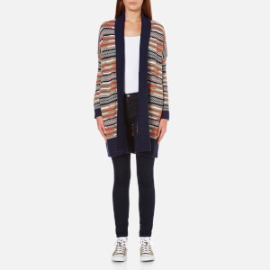 Diane von Furstenberg Women's Taletha Cardigan - Midnight/Orange