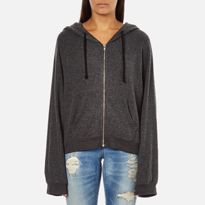 Wildfox Women's Take Me Somewhere Hideout Hoody - Clean Black/White Graphic