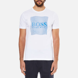BOSS Green Men's Tee 8 Rasied Print T-Shirt - White