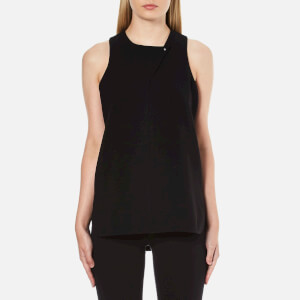 Alexander Wang Women's Tail Tank Shirt with Stud Closure - Jet