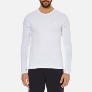 Versace Collection Men's Small Logo Crew Neck T-Shirt - White
