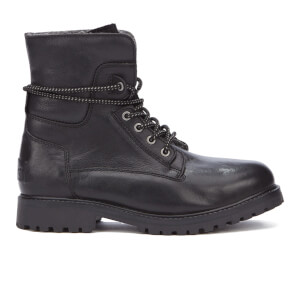 Wrangler Men's Aviator Roll Down Lace Up Boots - Black