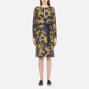 Gestuz Women's Audra Tunic Printed Dress - Golden Palm/Blue-Black