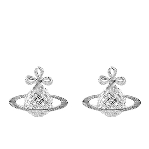 Vivienne Westwood Jewellery Women's Simone Bas Relief Earrings - Rhodium