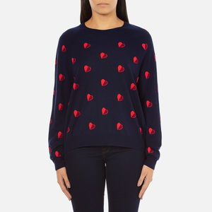 PS by Paul Smith Women's Heart Intarsia Jumper - Navy
