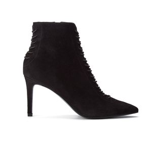 Kendall + Kylie Women's Liza Valeria Elastic Heeled Ankle Boots - Black