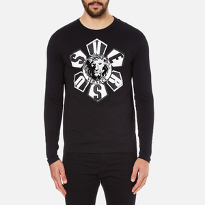Versus Versace Men's Large Logo Long Sleeve T-Shirt - Black