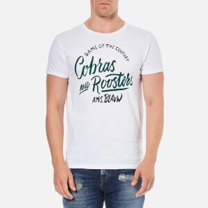 Scotch & Soda Men's Hand Drawn Print T-Shirt - White