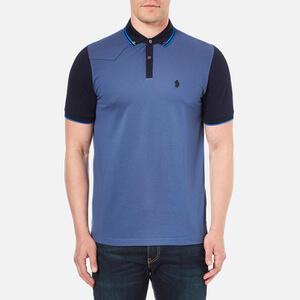 Luke 1977 Men's Steve The Doorman Tipped Collar Polo Shirt - Electric Blue
