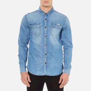 Calvin Klein Men's Classic Denim Shirt - Light Indigo