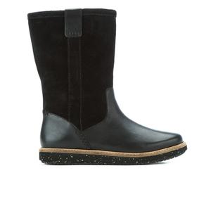 Clarks Women's Glick Elmfield Faux Fur Lined Knee High Boots - Black Combi