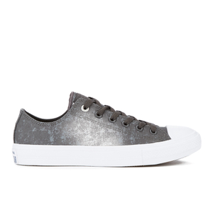 Converse Men's Chuck Taylor All Star II Reflective Wash Ox Trainers - Shale Grey/Pure Silver/White