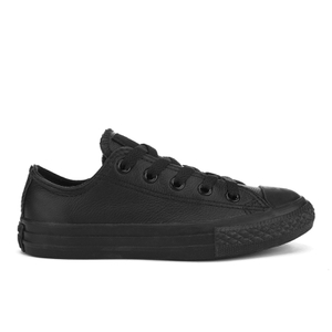 Converse Kids' Chuck Taylor All Star Leather Ox Trainers - Black