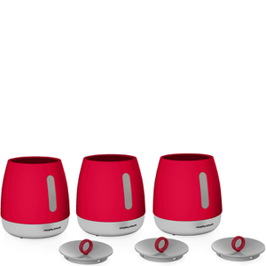 Morphy Richards 971361 Chroma Set of 3 Canisters - Red