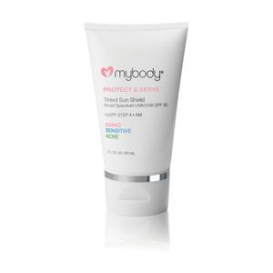 mybody Protect and Serve Tinted Sun Shield SPF 30 UVA UVB Protection