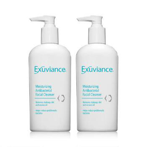 Exuviance Moisturizing Antibacterial Facial Cleanser Duo
